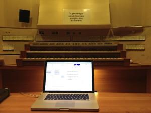 Computer controlling the Klais organ, Aarhus Symphony Hall
